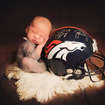 Maryland Newborn Photographer – Tiny Broncos Fan