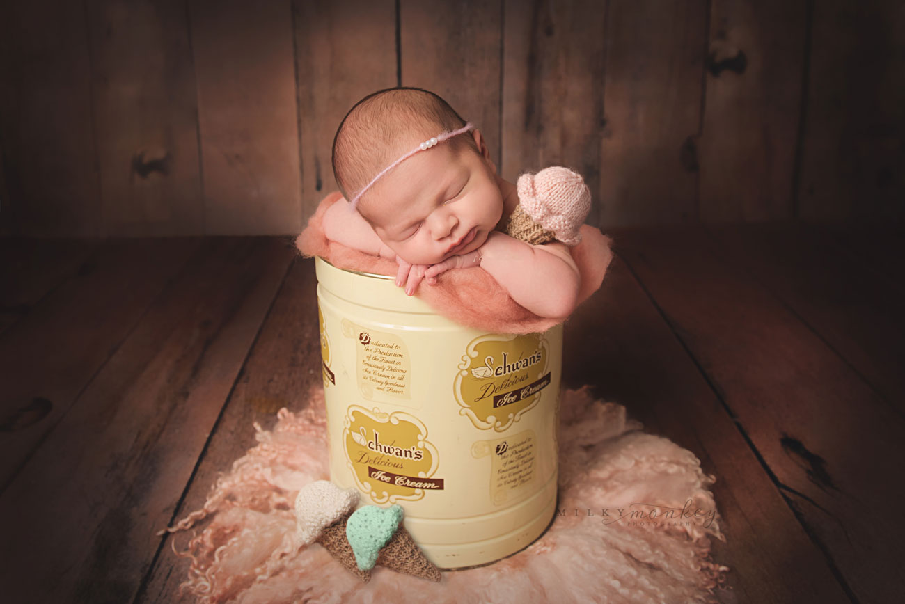 Maryland-newborn-photographer-milky-monkey-photography-ice-cream-baby-bethesda-newborn