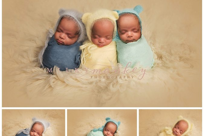 Montgomery County Maryland Triplet Portraits